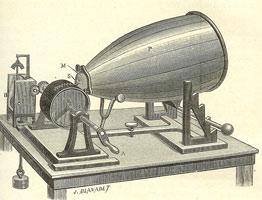 Gravure du phonautographe de Scott de Martinville