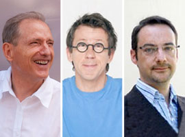De gauche à droite : Jacques Prost, Jamy Gourmaud et Hervé Dole