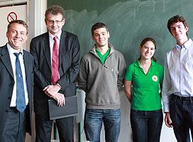 De gauche à droite : Gérard Bacquet, Jean-Maxime Saugrain, Marc Gesnik, Mélanie Jacquet et Bastien Fournié